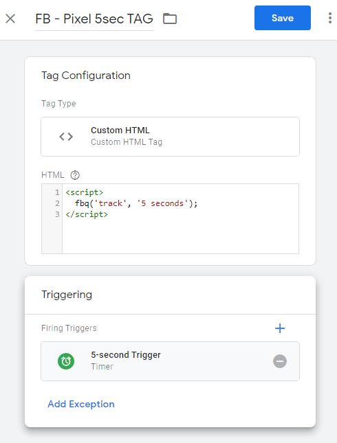 Google Tag Manager Timer
