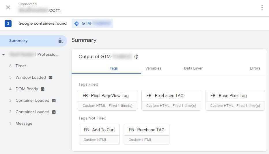 GTM Smart Tag Assistant WordPress